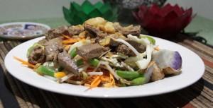 Beef Satay with Gado Gado