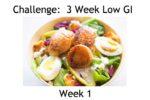 The Low GI Challenge Week 1 Menu Plan