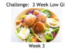 The Low GI Challenge Week 3 Menu Plan